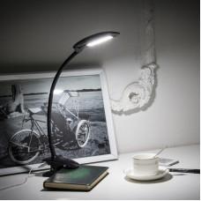 MA66C 6W Flexible Gooseneck Clip LED Table Lamp USB Port
